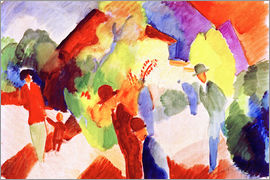 August Macke - Walkers in the park