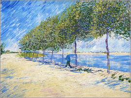 Vincent van Gogh - Walking on the banks of the Seine near Asnières