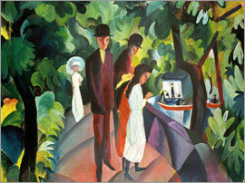 August Macke - Stroll on the Bridge