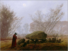 Caspar David Friedrich - Walk at dusk (man contemplating a megalithic grave)