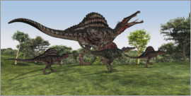Corey Ford - Spinosaurus mother with her cub
