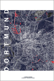 campus graphics - City of Dortmund Map midnight