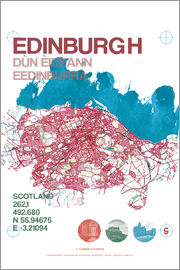 campus graphics - Edinburgh city map