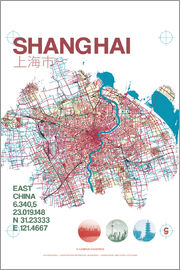 campus graphics - Shanghai city map