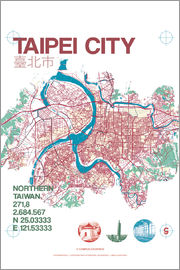campus graphics - Taipei City Map