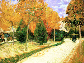 Vincent van Gogh - City park in autumn