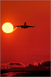 David Nunuk - Boeing 747 taking off at sunset