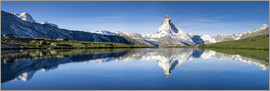 Jan Christopher Becke - Stellisee and Matterhorn near Zermatt in the Swiss Alps