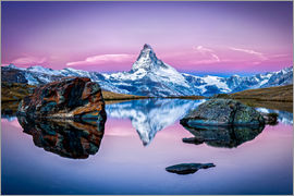 Jan Christopher Becke - Stellisee and Matterhorn in the Swiss Alps