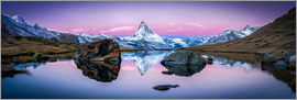 Jan Christopher Becke - Stellisee and Matterhorn in Swiss panorama
