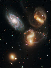 Nasa - Stephan's Quintet galaxies, HST image