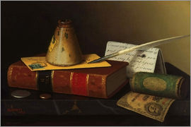 William Michael Harnett - Still life with a writing table