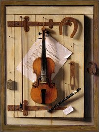 William Michael Harnett - Still Life - Violin and Music