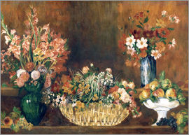 Pierre-Auguste Renoir - still life with flowers and fruit
