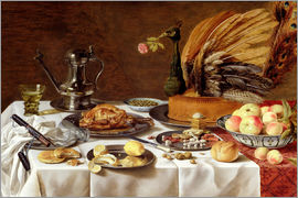 Pieter Claesz - Still Life with a Peacock Pie
