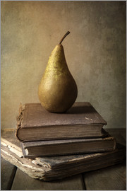 Jaroslaw Blaminsky - Still life with pile of book and pear