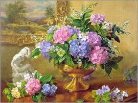Albert Williams - Still Life with hydrangeas and lilacs