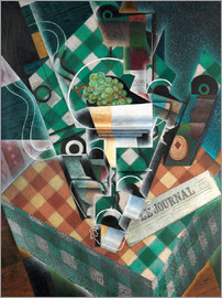 Juan Gris - Still life with checkered tablecloth