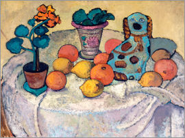 Paula Modersohn-Becker - Still Life with Oranges and Stoneware Dog