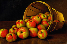 Levi Wells Prentice - STILL LIFE WITH OVERTURNED BASKET OF APPLES