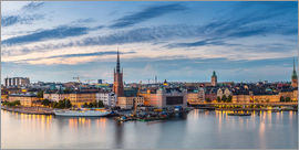 Stockholm evening panorama