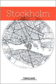 campus graphics - Stockholm map city black and white