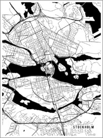 Main Street Maps - Stockholm Sweden Map