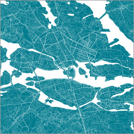 44spaces - Stockholm city map Q teal