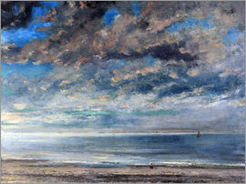 Gustave Courbet - Beach at sunset