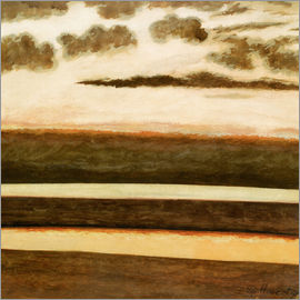 Léon Spilliaert - Beach and sea at sunset