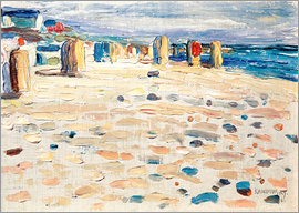 Wassily Kandinsky - Beach chairs in Holland