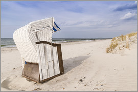 beach chair on the Baltic Sea