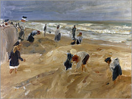 Max Liebermann - Beach scene in Noordwijk
