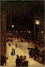 Lesser Ury - Road at night