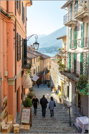 Matteo Colombo - Street in the town of Bellagio, lake Como, Italy