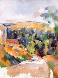 Paul Cézanne - Bend in the road