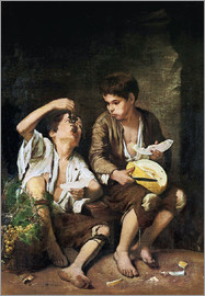Bartolome Esteban Murillo - Baggar boys eating grapes and melon