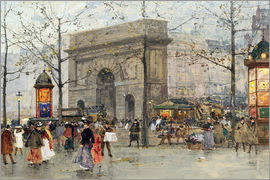 Eugene Galien-Laloue - Street scene in Paris