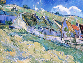 Vincent van Gogh - Thatched cottages at Auvers-sur-Oise
