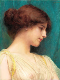 John William Godward - Study of a Girl's Head