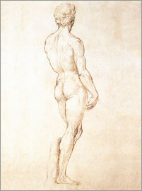 Michelangelo - Study of a male nude