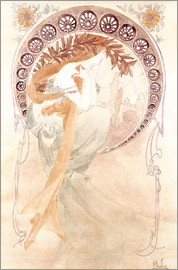 Alfons Mucha - Study of Poetry