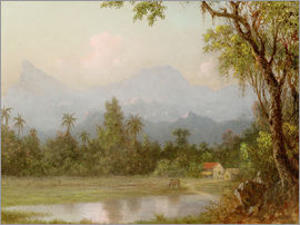 Martin Johnson Heade - South American scene with a farm