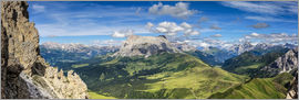 Sascha Kilmer - The Dolomites in South Tyrol, panoramic view