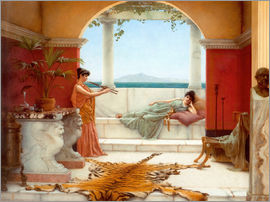 John William Godward - The Sweet Siesta Of A Summer Day