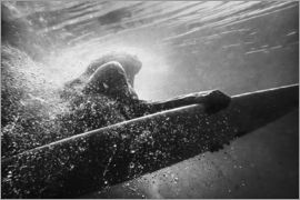 Ben Welsh - Woman on surfboard underwater