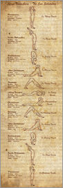 Sharma Satyakam - Surya Namaskara The Sun Salutation(vertical) Yoga Poster