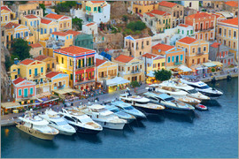 Neil Farrin - Symi Harbour, Symi, Dodecanese, Greek Islands, Greece, Europe