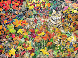Hilary Jones - Tabby in Autumn, 1996