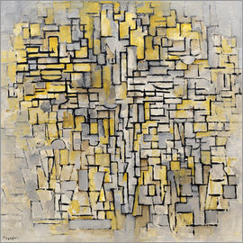 Piet Mondrian - tableau no 2 composition no vii